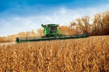 John Deere combine tractor 180 year anniversary
