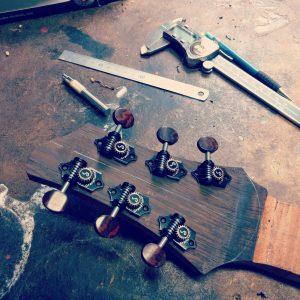 Guitar building process