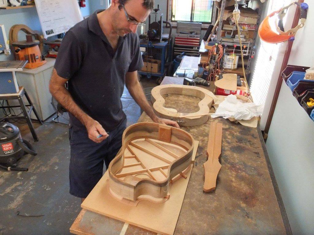 Remi Garcia building a guitar