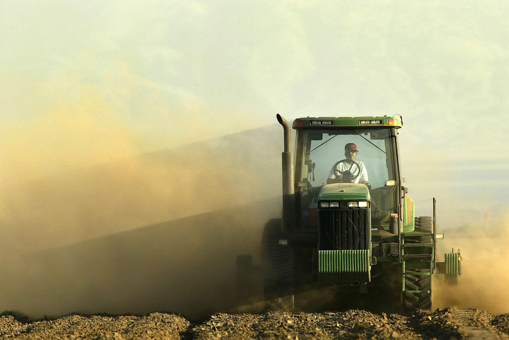 Farm tractor pollution