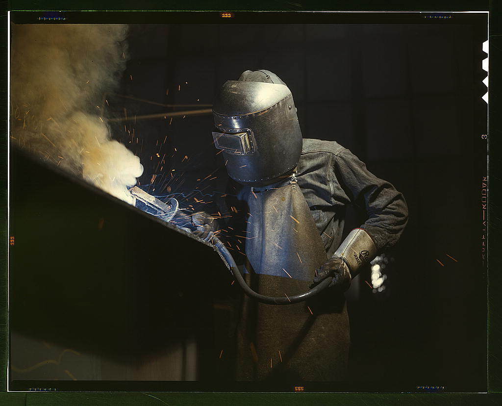 Old school welding gear