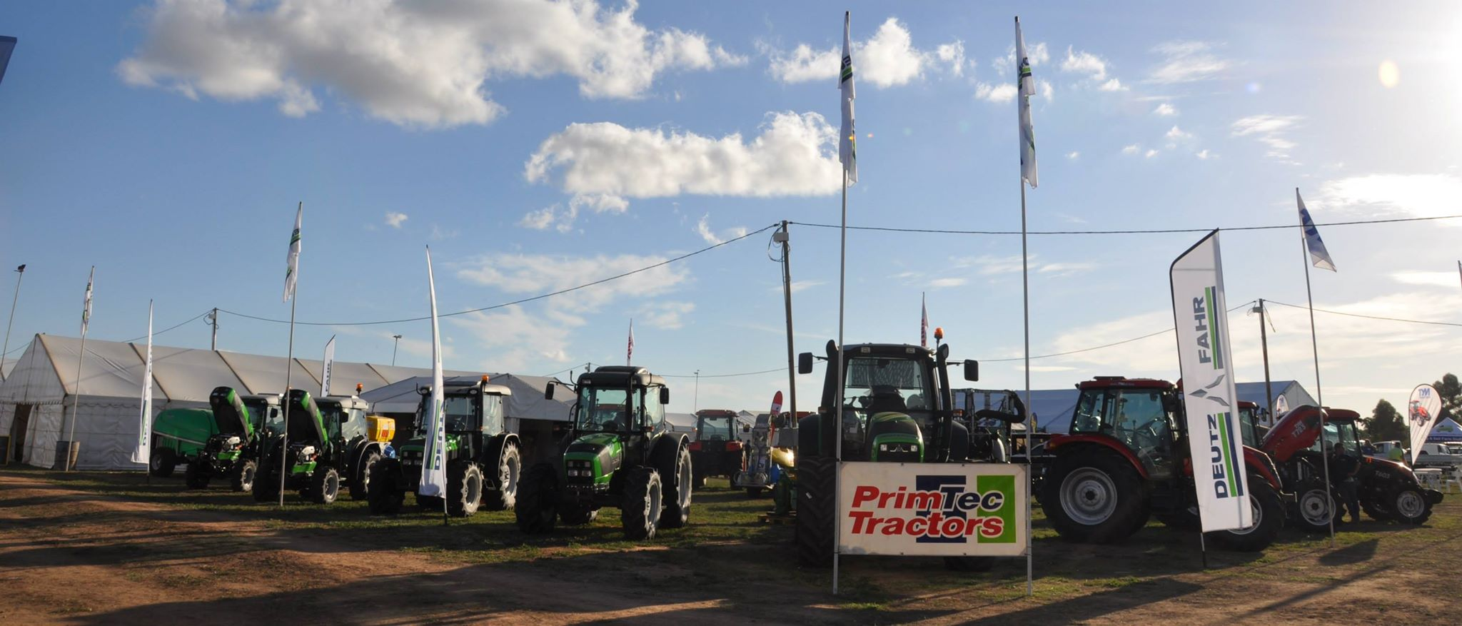 Primtec tractor showing at a previous Mildura Field Days