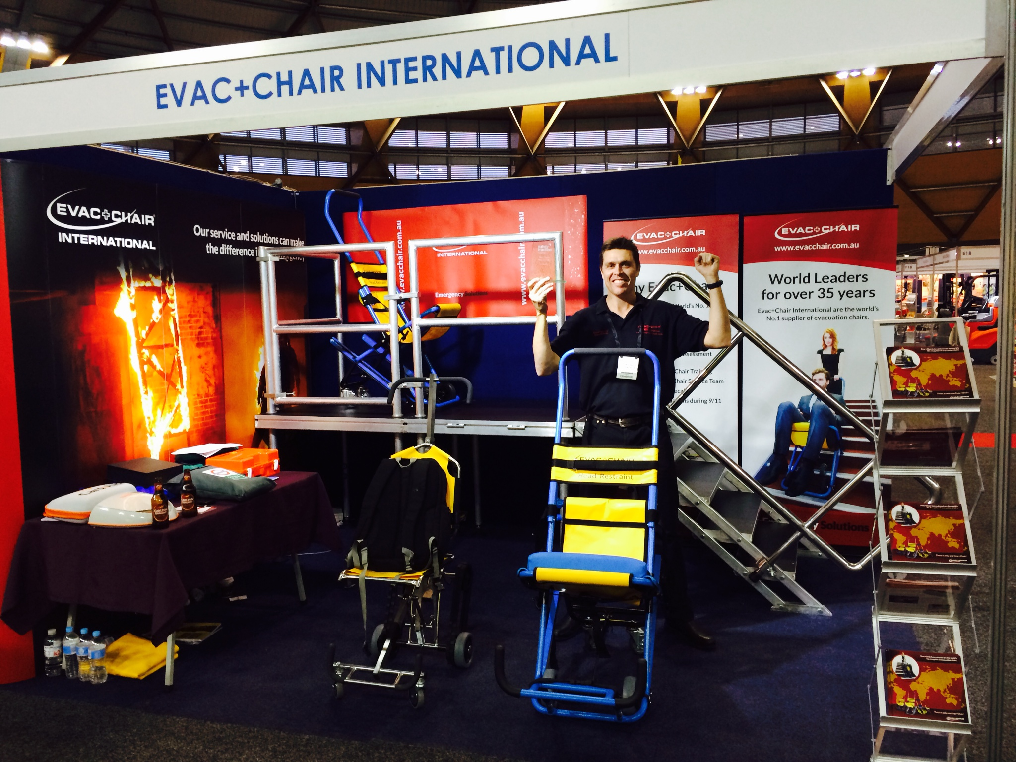 Safety innovations from previous Safety in Action events include the Evac Chair