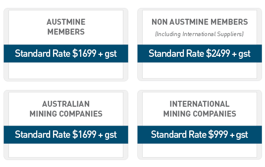 Austmine Pricing Structure