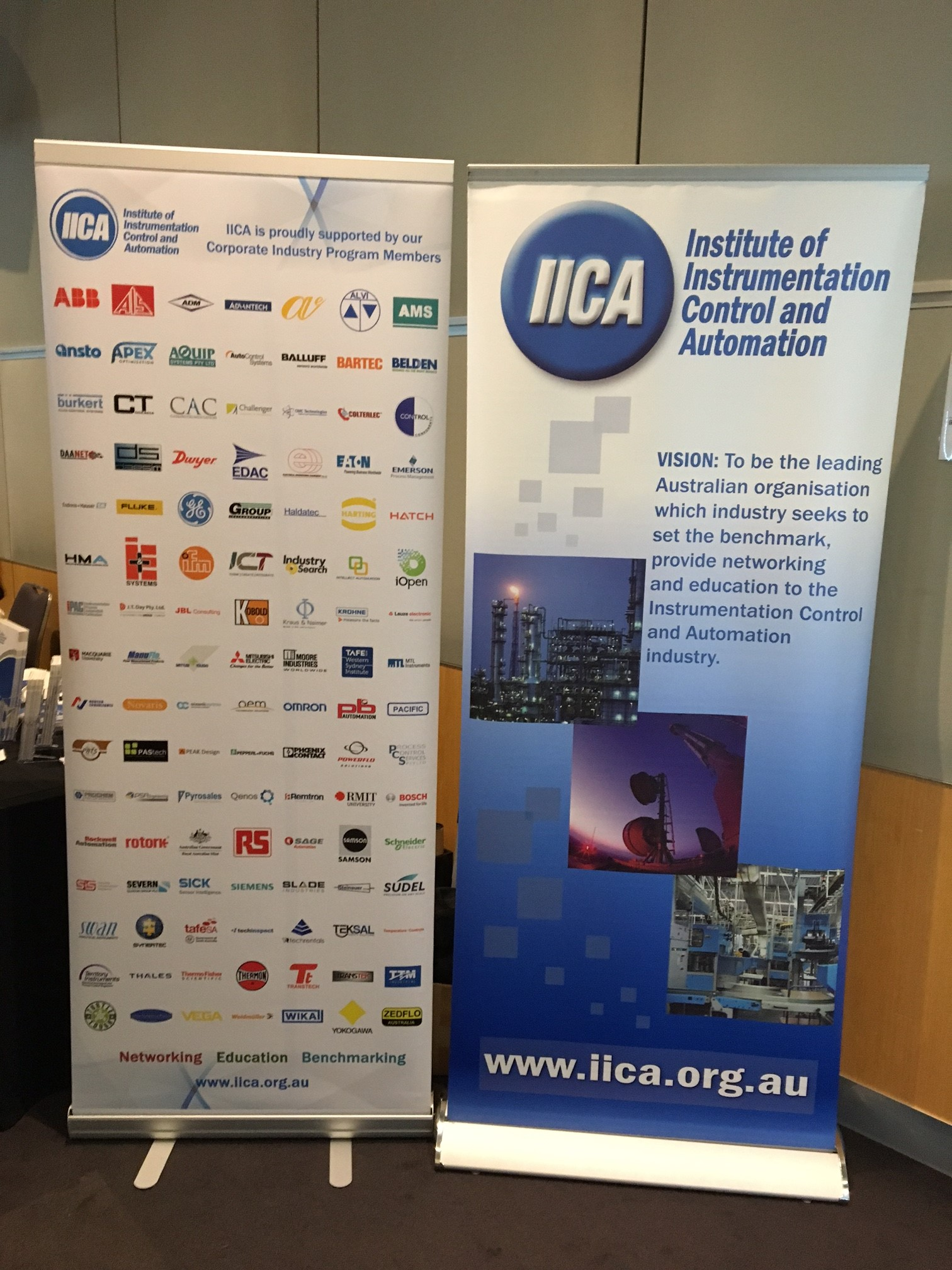 IIAC banner showing all of the sponsors involved
