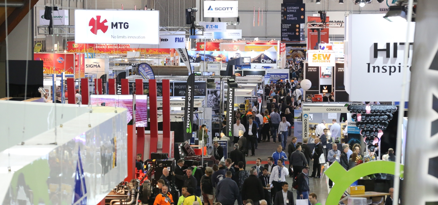 A view of the aimex mining exhibition floor