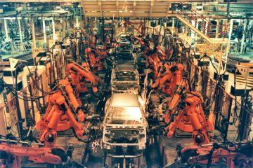 robot factory line