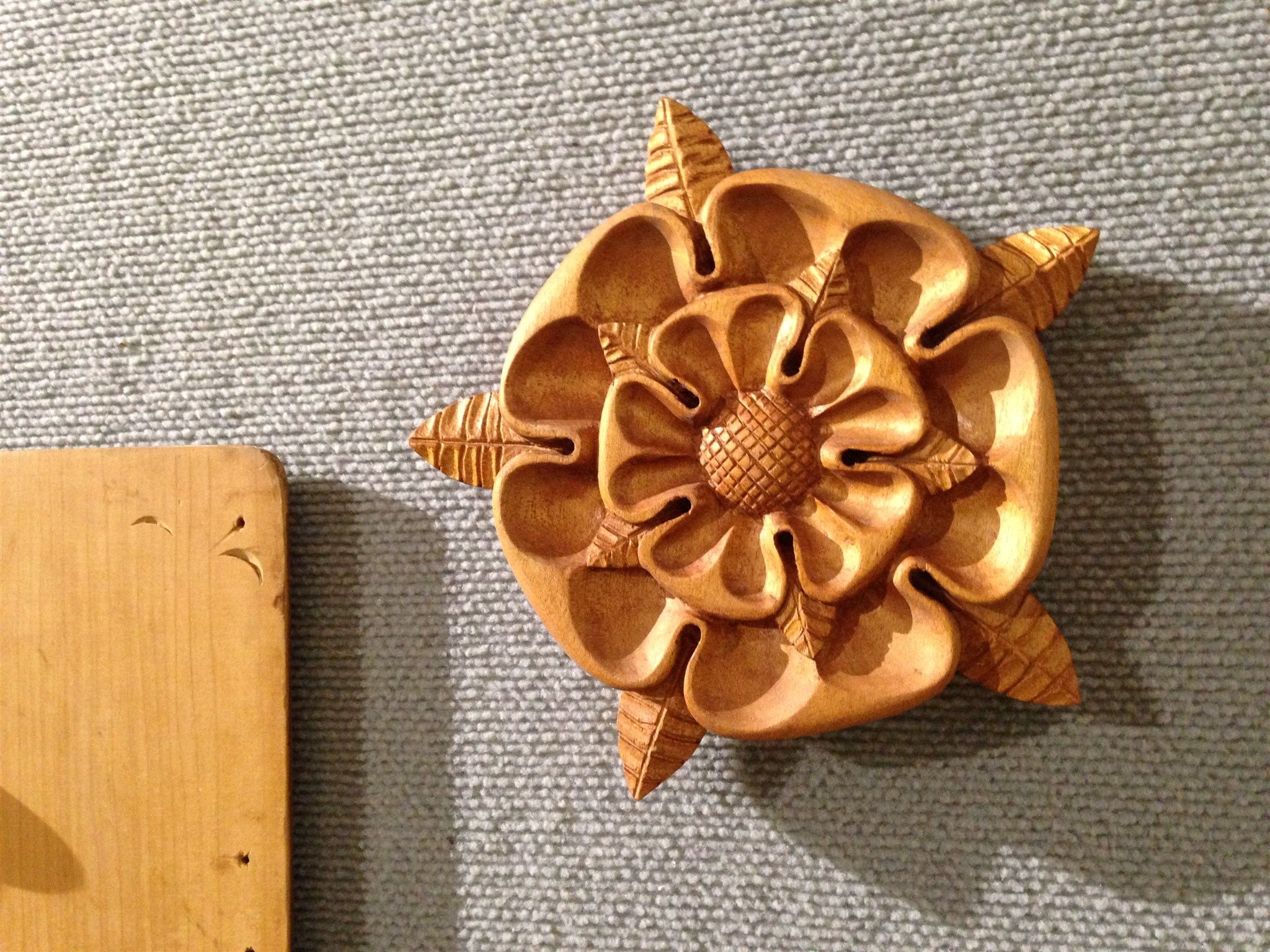 a wooden flower crafted for the Canberra timber show