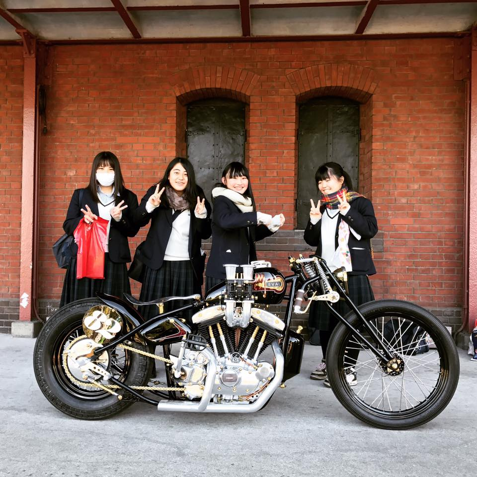 Eval Upheval Motorcycle Admired in Japan