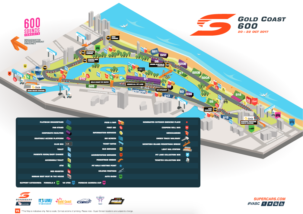 Gold Coast 600 Race Circuit Map
