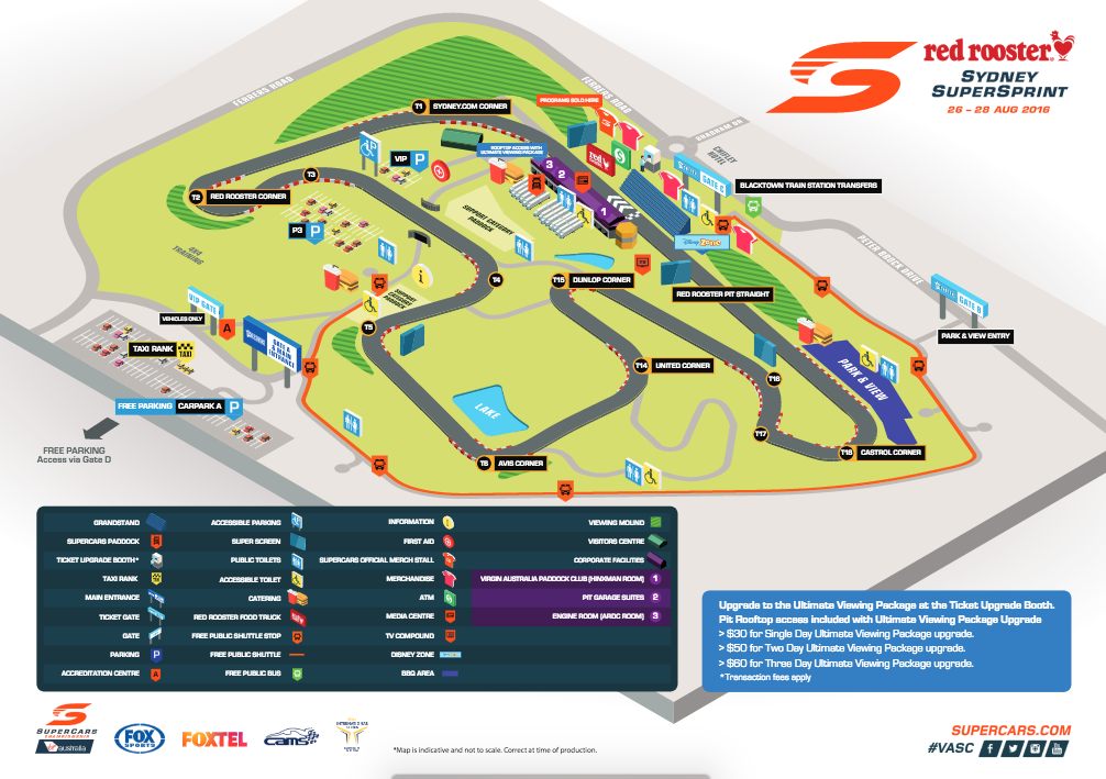 Sydney Motorsport Park venue mapped out