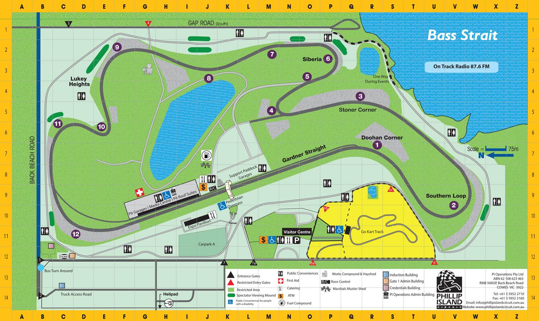 Phillip Island Circuit Map