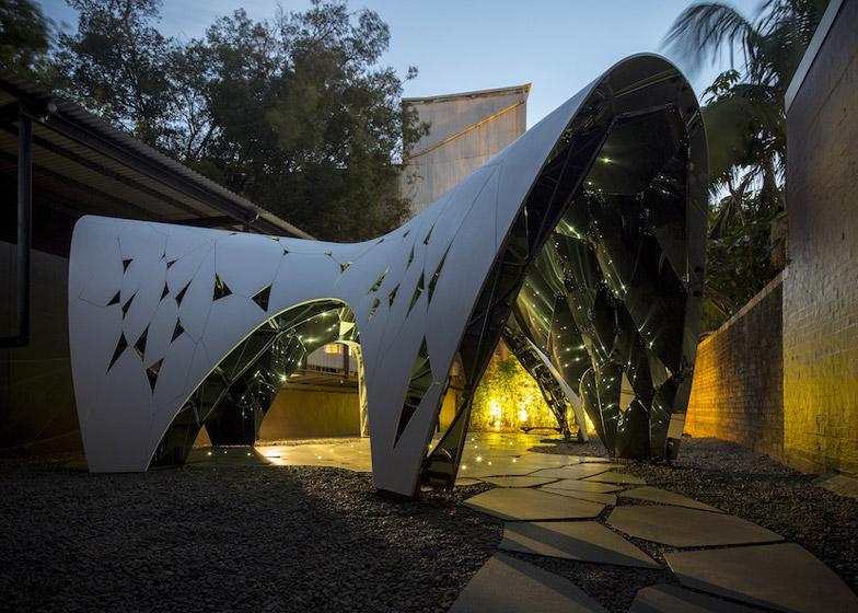 Laser cut archway in Sydney