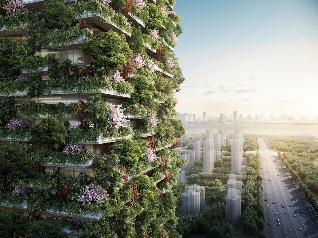 green high rise