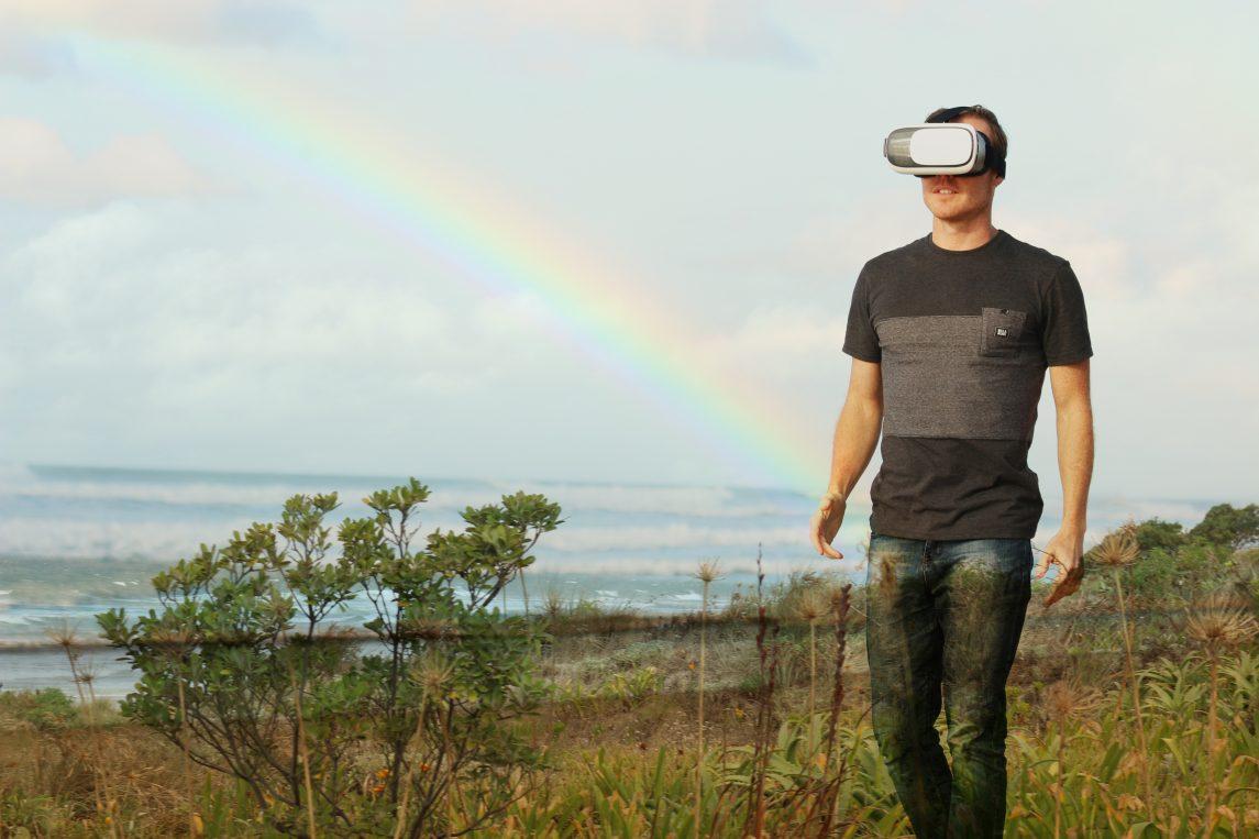Rainbow AR man