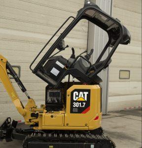 Cat 301.7 mini excavator tilt