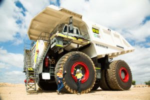 The Liebherr T 282 C haul truck