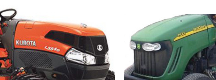 Kubota and John Deere Tractor Hoods