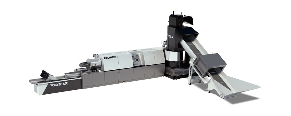 Polystar recycling machine