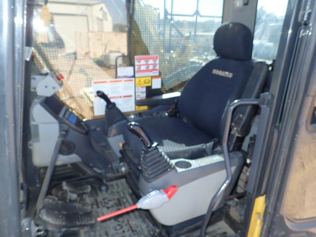 PC200 8 Komatsu Excavator cab interior