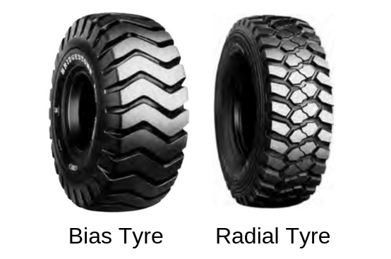 Wheel loader tyre types
