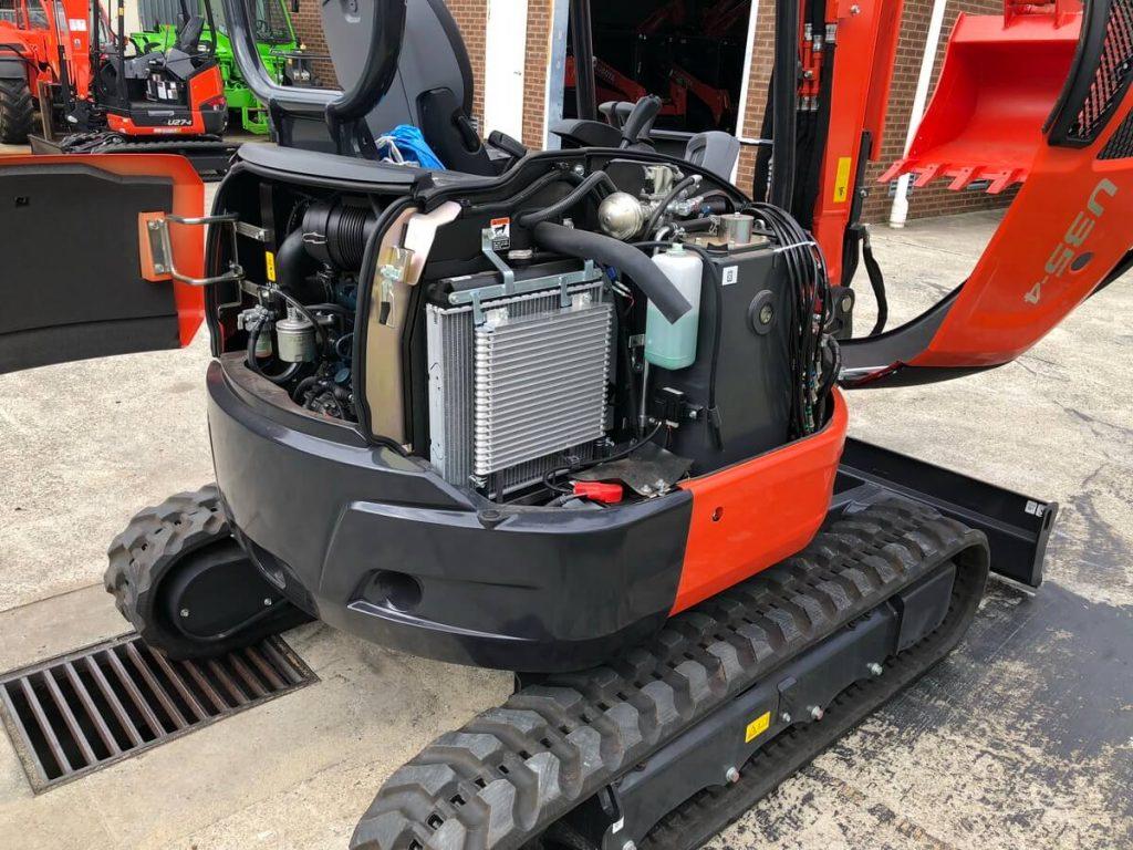 Kubota mini excavator U35 4 serviceability