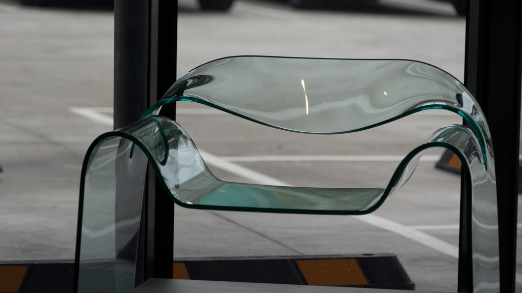 FIAM glass chair Biesse Group Sydney