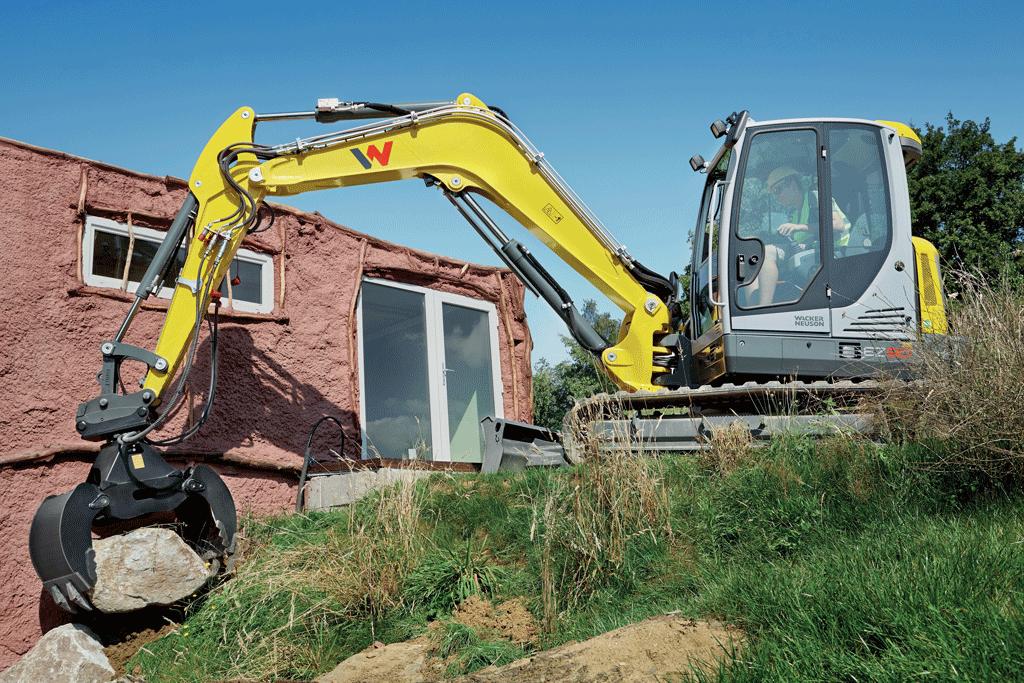 medium size excavator