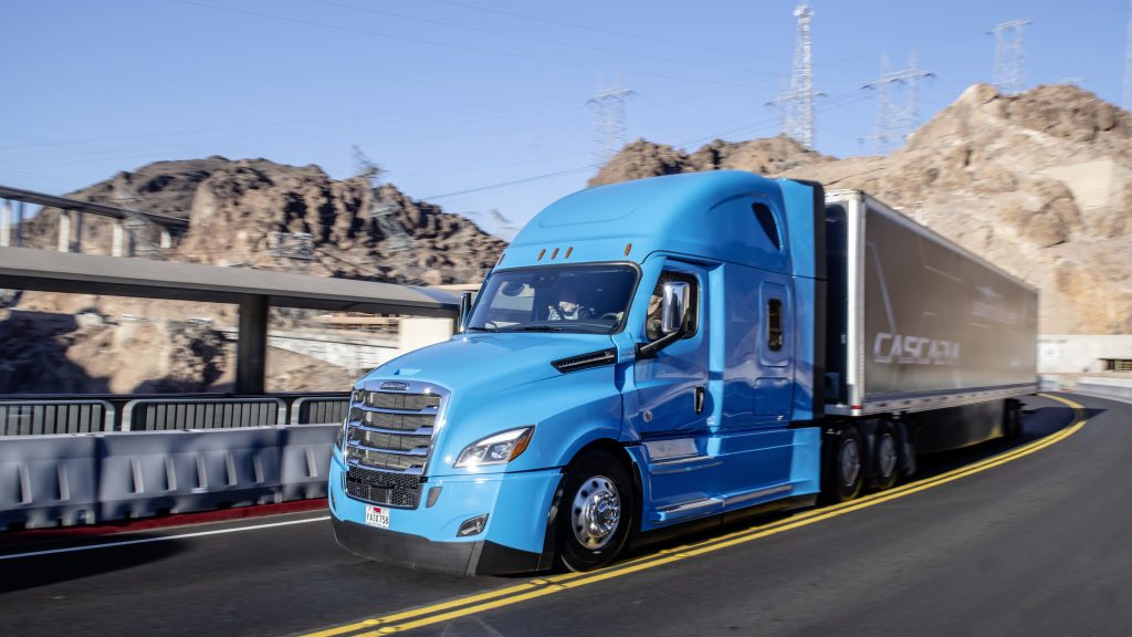 Cascadia freightliner self driving truck