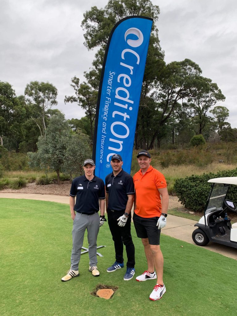 CreditOne on the green with Steve DDT golf day 2019