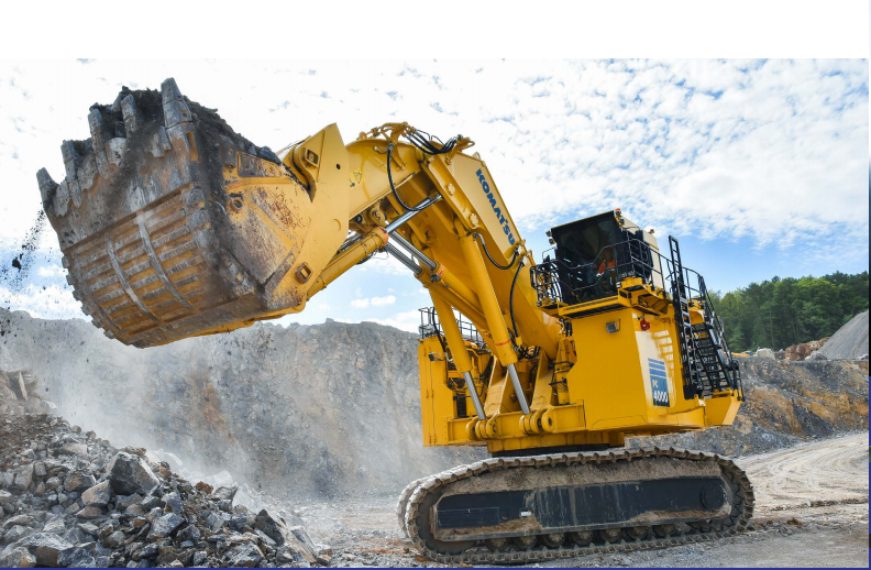 Komatsu PC4000-11 with a full bucket