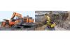 Komatsu Excavator PC4000-11 & Hitachi Excavator EX3600-6