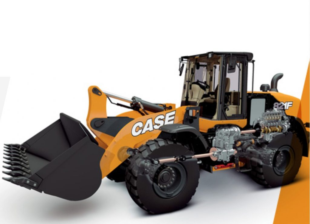CASE wheel loader engine placement