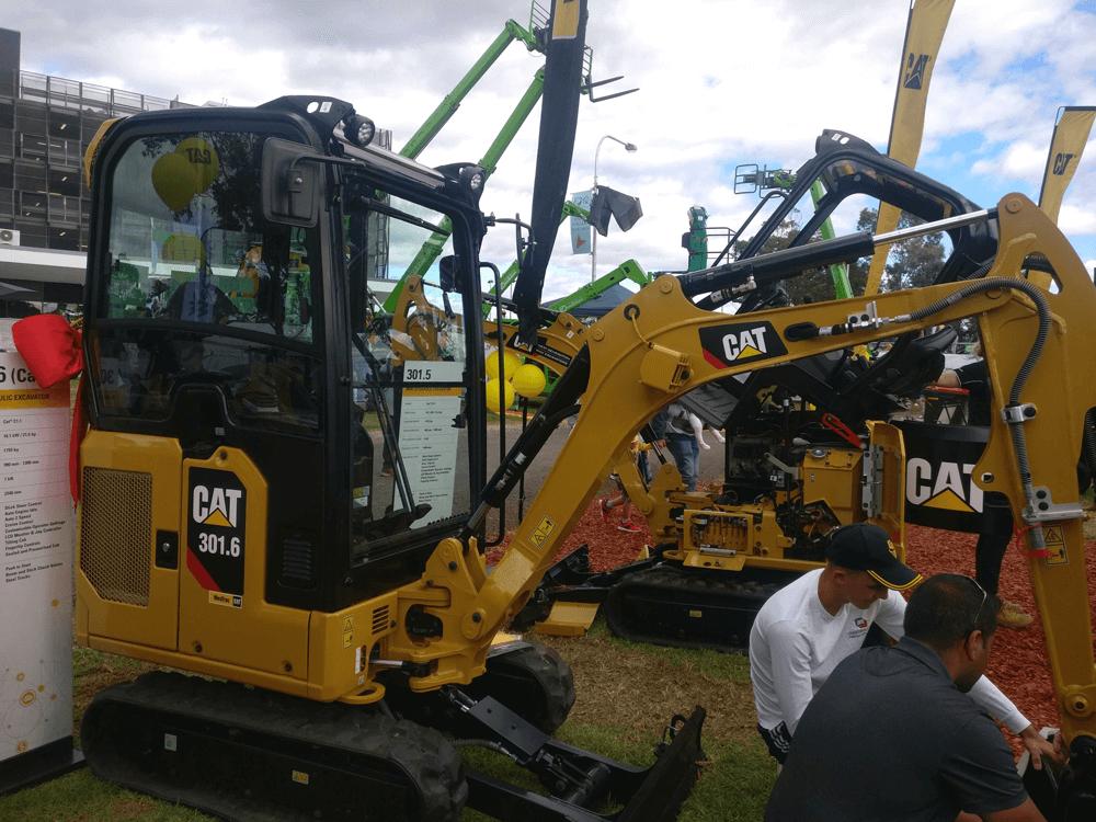 Cat 301.5 mini excavator at expo