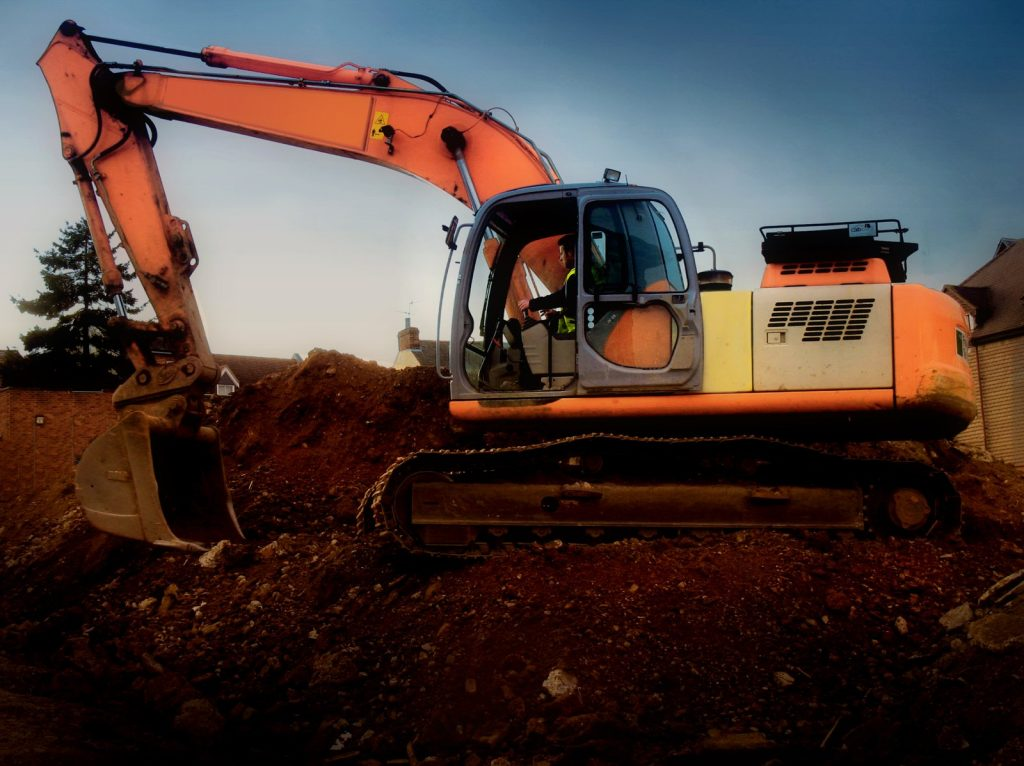 Servicing and maintaining an excavator