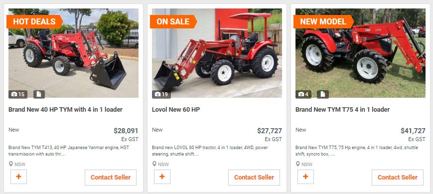 Tractor Listings on Machines4U