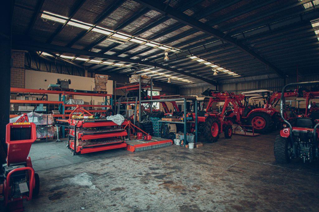 Machinery dealer warehouse